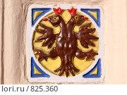 Изразец на воротах Ильинской церкви в Ярославле (2007 год). Редакционное фото, фотограф Дмитрий Сузан / Фотобанк Лори