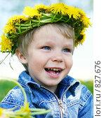 Купить «Сачстливый малыш», фото № 827676, снято 28 мая 2008 г. (c) Вероника Галкина / Фотобанк Лори
