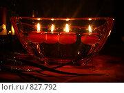 Горящие в воде свечи. Стоковое фото, фотограф Igor Kaplan / Фотобанк Лори