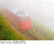 Железная дорога в тумане (2008 год). Стоковое фото, фотограф Aleksey Trefilov / Фотобанк Лори
