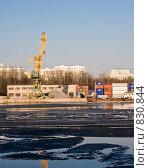 Северный речной порт. Химкинское водохранилище. Москва (2009 год). Стоковое фото, фотограф Николай Коржов / Фотобанк Лори