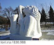 Купить «Саксофониста (снежная скульптура)», фото № 830988, снято 17 января 2019 г. (c) Марина Чурина / Фотобанк Лори