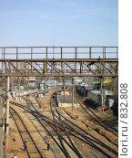 Железная дорога в Москве. Стоковое фото, фотограф ZitsArt / Фотобанк Лори