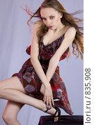 Девушка в цветном платье. Стоковое фото, фотограф Кувшинников Павел / Фотобанк Лори