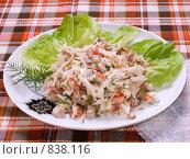 Пестрый домашний салат, крупный план. Стоковое фото, фотограф Елена А / Фотобанк Лори