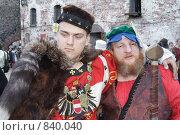 Купить «Средневековые купцы. Реконструкция», фото № 840040, снято 27 июля 2007 г. (c) Максим Антипин / Фотобанк Лори