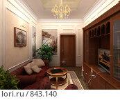 Купить «Интерьер в классическом стиле», иллюстрация № 843140 (c) Наталия Печёрских / Фотобанк Лори
