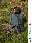 Купить «Человек фотографирует сад», фото № 843456, снято 7 сентября 2008 г. (c) Наталия Печёрских / Фотобанк Лори