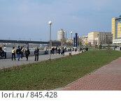 Купить «Иртышская набережная в Омске», фото № 845428, снято 2 мая 2009 г. (c) Золотовская Любовь / Фотобанк Лори