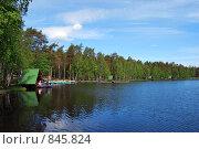 Озеро,где много рыбы и рыбаков. Стоковое фото, фотограф Елена Реднева / Фотобанк Лори