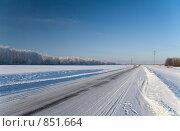 Купить «Зимняя дорога», фото № 851664, снято 6 января 2009 г. (c) Юрий Егоров / Фотобанк Лори