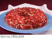 """Купить «Салат """"Гранатовый браслет""""», фото № 852624, снято 12 апреля 2007 г. (c) Елена А / Фотобанк Лори"""