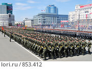 Купить «Парад в Челябинске», фото № 853412, снято 9 мая 2009 г. (c) Сергей Ксенофонтов / Фотобанк Лори