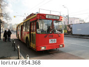 Купить «Московский троллейбус», фото № 854368, снято 14 марта 2009 г. (c) Кочеткова Галина / Фотобанк Лори