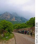 Туристы в горах. Стоковое фото, фотограф Гортованова Мария / Фотобанк Лори
