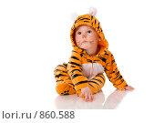 Купить «Ребенок в костюме тигра», фото № 860588, снято 7 мая 2009 г. (c) Ольга Сапегина / Фотобанк Лори