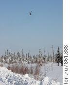 Купить «Разворот на посадку», фото № 861888, снято 21 апреля 2009 г. (c) Анатолий Ефимов / Фотобанк Лори