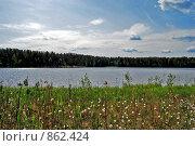 Берег красивого озера. Стоковое фото, фотограф Елена Реднева / Фотобанк Лори