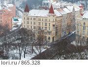 Купить «Вид Праги с Вышеграда. Зима», фото № 865328, снято 8 января 2009 г. (c) Лошкарев Антон / Фотобанк Лори