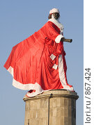 Купить «Памятник Петру I в костюме Деда Мороза», фото № 867424, снято 27 декабря 2008 г. (c) Юрий Егоров / Фотобанк Лори