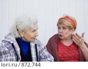 Купить «Разговор между дочерью и матерью», фото № 872744, снято 10 мая 2009 г. (c) Николай Коржов / Фотобанк Лори
