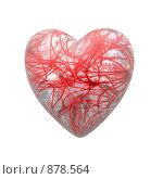 Купить «Сердце на белом фоне», иллюстрация № 878564 (c) Alperium / Фотобанк Лори