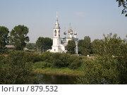 Купить «Вологда, берег реки, церковь», фото № 879532, снято 16 августа 2007 г. (c) Удодов Алексей / Фотобанк Лори
