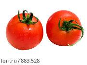 Два красных помидора. Стоковое фото, фотограф Liudmila Belyaeva / Фотобанк Лори