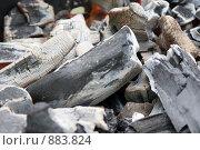 Горячий древесный уголь. Стоковое фото, фотограф Леонид Козлов / Фотобанк Лори
