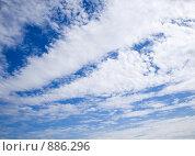 Купить «Синее небо с белыми облаками», фото № 886296, снято 17 мая 2009 г. (c) Елена Васильева / Фотобанк Лори