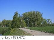 Купить «Утренний пейзаж,Минск, Беларусь», фото № 889672, снято 3 мая 2009 г. (c) Марина Шатерова / Фотобанк Лори