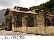 Купить «Отреставрированное здание завода шампанских вин «Абрау-Дюрсо». Краснодарский край», фото № 893856, снято 15 мая 2009 г. (c) Наталья Чуб / Фотобанк Лори
