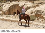 Купить «Иордания. Одинокий всадник», фото № 900276, снято 25 мая 2009 г. (c) Рягузов Алексей / Фотобанк Лори