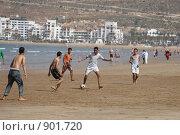 Купить «Марокко. Игра в футбол на берегу океана», фото № 901720, снято 16 мая 2009 г. (c) Gagara / Фотобанк Лори