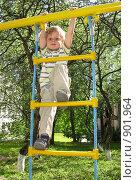 Купить «Мальчик на детской площадке», фото № 901964, снято 31 мая 2009 г. (c) Юлия Подгорная / Фотобанк Лори