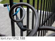 Купить «Кодовый замок на воротах», фото № 912188, снято 18 мая 2008 г. (c) Юрий Синицын / Фотобанк Лори