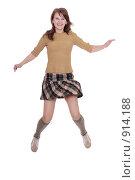 Купить «Девочка прыгает», фото № 914188, снято 14 мая 2007 г. (c) Vdovina Elena / Фотобанк Лори