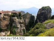 Купить «Греция, Метеоры», эксклюзивное фото № 914932, снято 24 апреля 2009 г. (c) Дмитрий Неумоин / Фотобанк Лори
