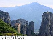Купить «Монастырь Святой Варвары или Русану. Греция, Метеоры», эксклюзивное фото № 917508, снято 24 апреля 2009 г. (c) Дмитрий Неумоин / Фотобанк Лори