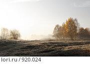 Купить «Осенний пейзаж. Восход солнца», фото № 920024, снято 8 октября 2008 г. (c) Юрий Бельмесов / Фотобанк Лори