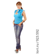 Купить «Красивая девушка», фото № 923592, снято 1 августа 2008 г. (c) Сергей Сухоруков / Фотобанк Лори