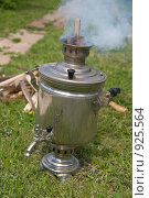 Дымящий самовар. Стоковое фото, фотограф Pukhov K / Фотобанк Лори