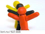 Купить «Пластилиновые человечки», фото № 927668, снято 24 октября 2008 г. (c) Дмитрий Ростовцев / Фотобанк Лори