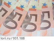Купить «Купюры в пятьдесят евро», фото № 931188, снято 17 июня 2009 г. (c) Алексей Баранов / Фотобанк Лори