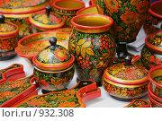 Купить «Сувениры в стиле хохлома», фото № 932308, снято 20 июня 2009 г. (c) Gagara / Фотобанк Лори