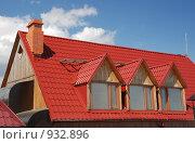 Купить «Красная крыша дома», фото № 932896, снято 1 мая 2008 г. (c) Сергей Галушко / Фотобанк Лори