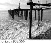 Чёрное море зимним днём. Стоковое фото, фотограф Андрей Рудаков / Фотобанк Лори