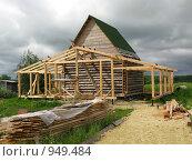 Купить «Дорога к строящемуся деревянному дому», фото № 949484, снято 28 июня 2009 г. (c) Юлия Селезнева / Фотобанк Лори