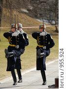 Купить «Солдаты президентского полка у могилы Неизвестного Солдата в Москве», фото № 955924, снято 10 апреля 2009 г. (c) Синицын Игорь / Фотобанк Лори
