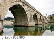 Купить «Босния, Вышеградский мост на Дрине», фото № 958880, снято 6 мая 2009 г. (c) Paul Bee / Фотобанк Лори